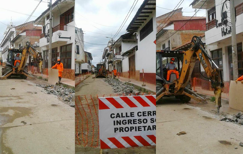 Consorcio San José interviene una nueva calle en el Centro Histórico de Chachapoyas