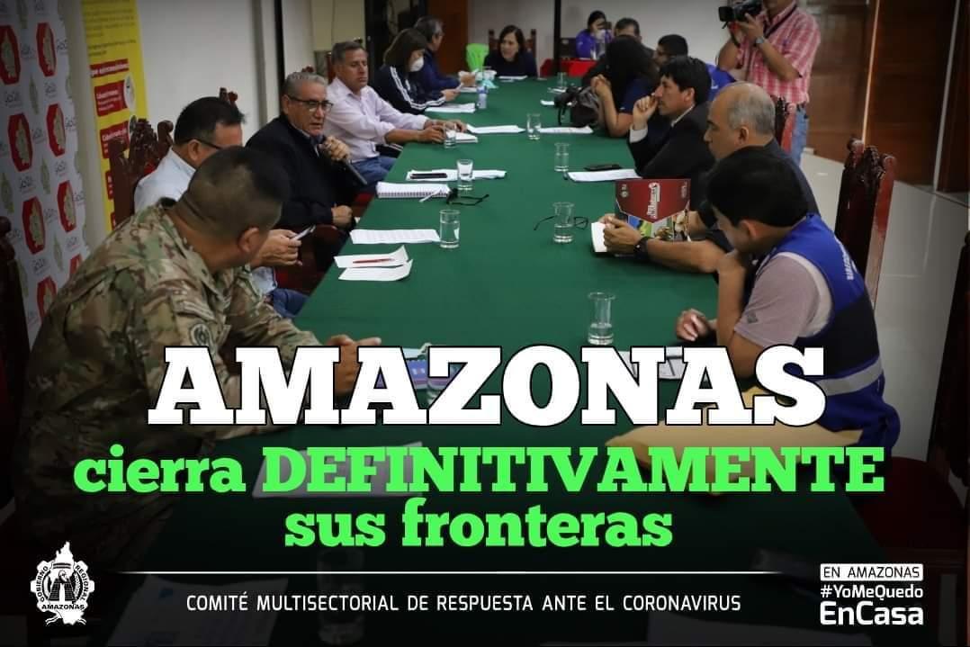 AMAZONAS CIERRA FRONTERAS Y REFUERZA MEDIDAS DE PREVENCIÓN ANTE EL CORONAVIRUS